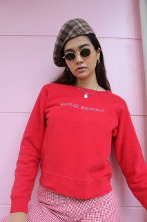 <img class='new_mark_img1' src='https://img.shop-pro.jp/img/new/icons20.gif' style='border:none;display:inline;margin:0px;padding:0px;width:auto;' />LADIES POLO SPORT LOGO CREWNECK SWEAT(ポロスポ クルーネック スウェット)