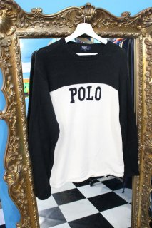 POLO BY RALPH LAUREN LOGO 2-TONE SWEATER(ポロ 2トーン セーター)