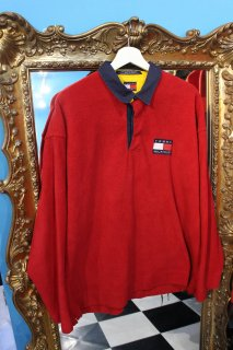 VINTAGE TOMMY HILFIGER POLO L/S FLEECE SHIRT(トミー ポロ フリース シャツ)