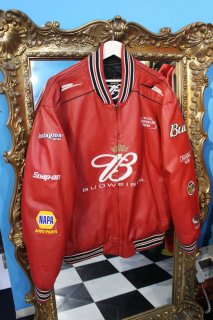 BUDWEISER FAKE LEATHER REVERSIBLE STADIUM JACKET(バドワイザー リバーシブル スタジャン)