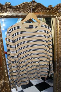 LADIES BURBERRY GOLF BORDER CREW NECK SWEATER(バーバリー ボーダー セーター)