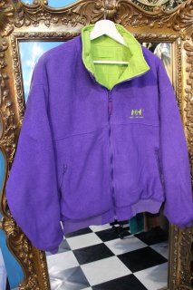 HELLY HANSEN REVERSIBLE FLEECE NYLON JACKET PURPLE/GREEN(ヘリハン リバーシブル ジャケット)
