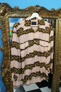 PINK L/S OPEN RAYON SHIRT(開襟 長袖 レーヨン シャツ)