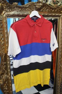 POLO SPORT MULTI COLOR  BORDER S/S POLO SHIRT(ポロスポ ボーダー ポロシャツ)