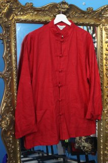 KUNG FU COTTON L/S SHIRT RED(カンフー シャツ)