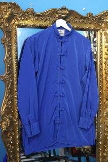 KUNG FU COTTON L/S SHIRT BLUE(カンフー シャツ)