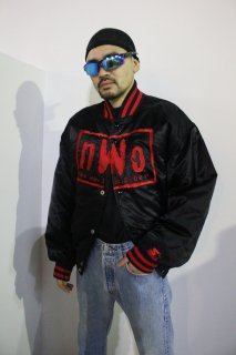 N.W.O(NEW WORLD ORDER) NYLON STADIUM JACKET(NWO ナイロン スタジアム ジャケット)