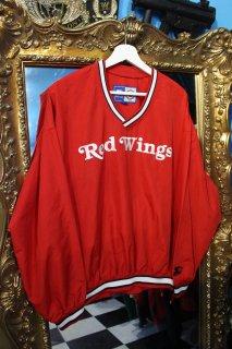 NHL DETROIT RE WINGS V-NECK NYLON L/S SHIRT(デトロイト・レッド ウイングス Vネック ナイロン シャツ)