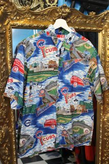 MLB CHICAGO CUBS  REYON S/S SHIRTS(MLB シカゴ・カブス レーヨン シャツ)