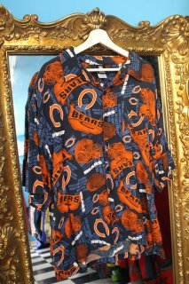 NFL CHICAGO BEARS RAYON S/S SHIRT(シカゴ・ベアーズ レーヨン シャツ)