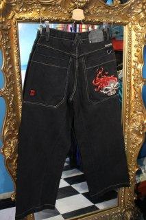 LADIES JNCO JEANS BLACK DENIM PANTS(JNCO ジーンズ ブラック デニム パンツ)