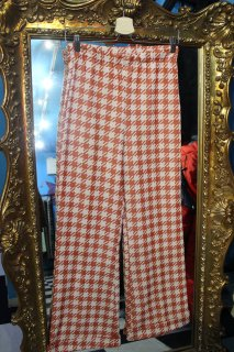 LADIES HOUNDSTOOTH PATTERN FLARE EAZY PANTS(千鳥柄 フレア イージー パンツ)