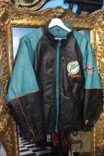 NFL MIAMI DOLPHINS LEATHER JACKET(NFL マイアミ・ドルフィンズ レザー ジャケット)