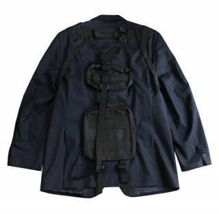 REMAKE BAG PACK TAILORED JACKET (BLACK)