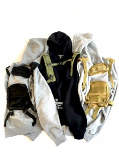 EMPIRE Co.ltd × Awesome Boy 13 oz REMAKE BAG PACK HOODIE(BLACK)