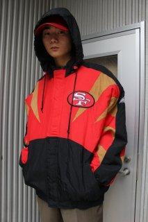 NFL SAN FRANCISCO 49ERS HOODIE DOWN JACKET(サンフランシスコ・ライナーズ フーディー ダウン ジャケット)