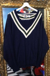 V-NECK KNIT SWEATER D,BLUE(Vネック ニット セーター)