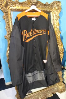 REMAKE BASEBALL LONG COAT(BALTIMORE)