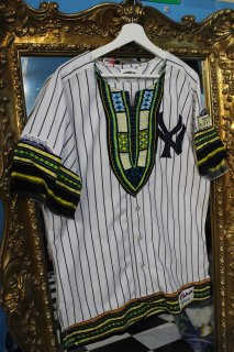 REMAKE BASEBALL DASHIKI SHIRT(YANKEES)