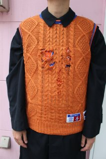 REMAKE BASKETBALL NO-SLEEVE SWEATER(KNICKS)