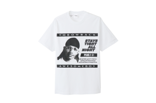 "AWESOME BOY×THROWBACK ""DU-RAG"" T-SHIRT(WH)"