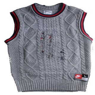 REMAKE BASKETBALL NO-SLEEVE SWEATER(NETS)