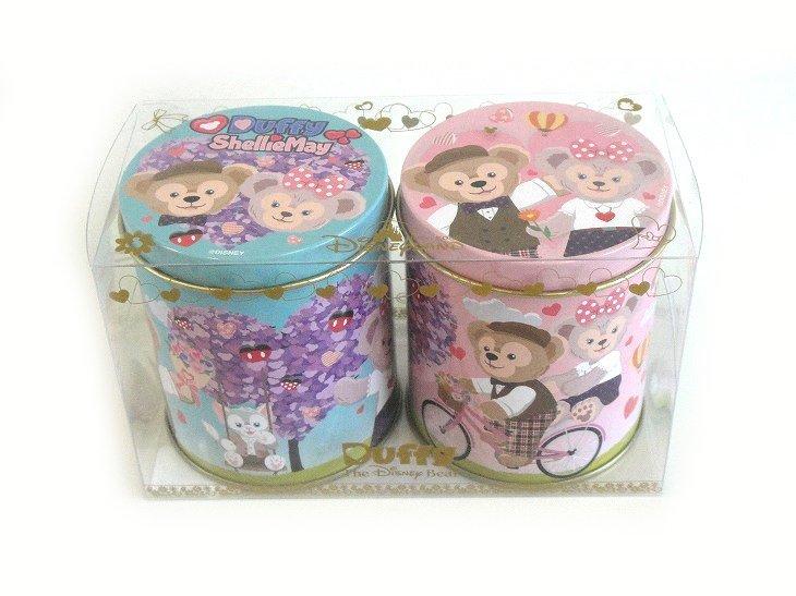 HKDL 2017 バレンタイン・ダッフィー&シェリーメイ&ジェラトーニ・クッキー&チョコ缶2個セット