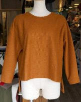 liSD07T-1060_b BIG TWILL SHAGGY DROP SHOULDER PULLOVER