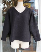 liSD07Y-1062_d LOOP NEEDLE DEC V-NECK PULLOVER