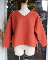 liSD07Y-1062_b LOOP NEEDLE DEC V-NECK PULLOVER