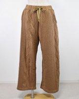 liS09TS-2001198_b JACQUARD GARMENT DYE WIDE PANTS