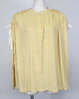 n210102A_ye Gingham-check blouse S,M