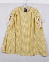 n210102_ye Gingham-check blouse 130,140,150cm