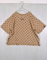 n210119_sa Big Drop Dot-print T-shirt  130,140,150cm