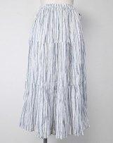 SP9999_ns linen stripe ティアードスカート