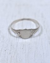 #2323 VINTAGE SILVER SIGNET RING UK