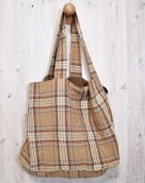 ic600619_c LINEN TARTAN CHECK BAG