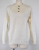 brM2474/HENRY_wh SHAGGY HENRY PULLOVER