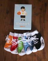 TRM016 6P BABY SOCKS (BOX) JOHNNY'S