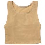 メッシュ製ナベシャツショート ベージュ 背中1枚仕様