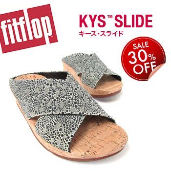 sale 30 off fitfloptm kys slide blck white 送料無料 即日発送