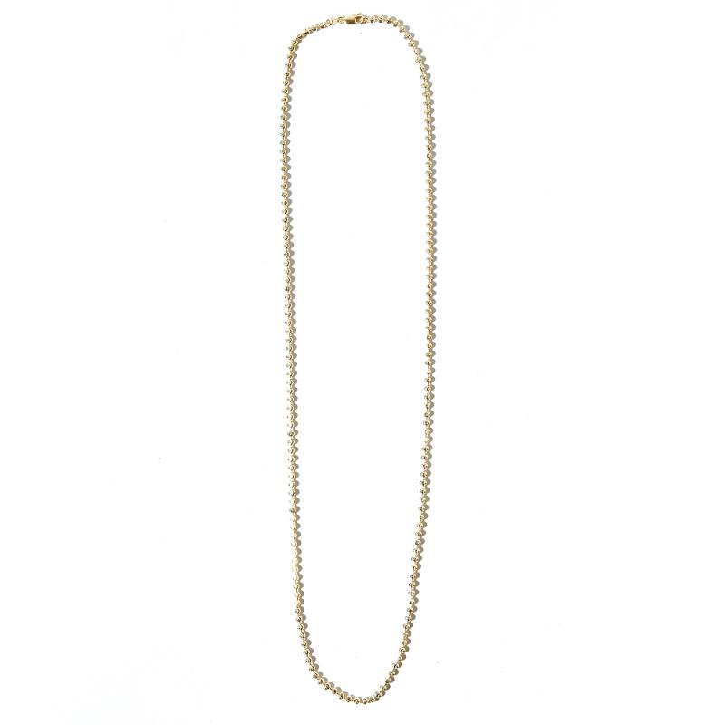 MOON CUT BALL CHAIN 10K YG 71cm