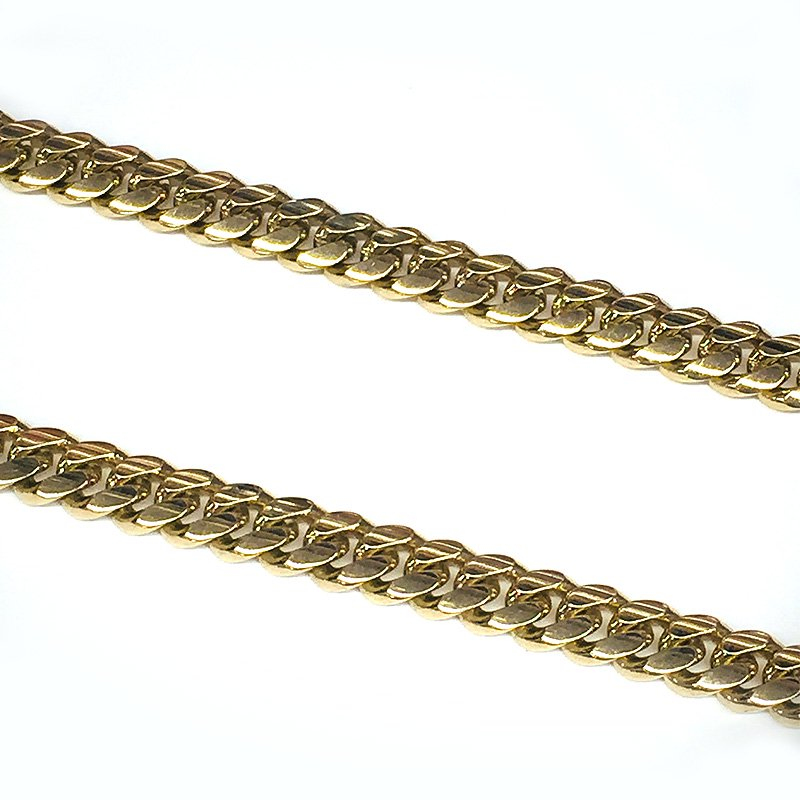 MIAMI CUBAN CHAIN 14K YG 7mm,61cm 【SOLID】