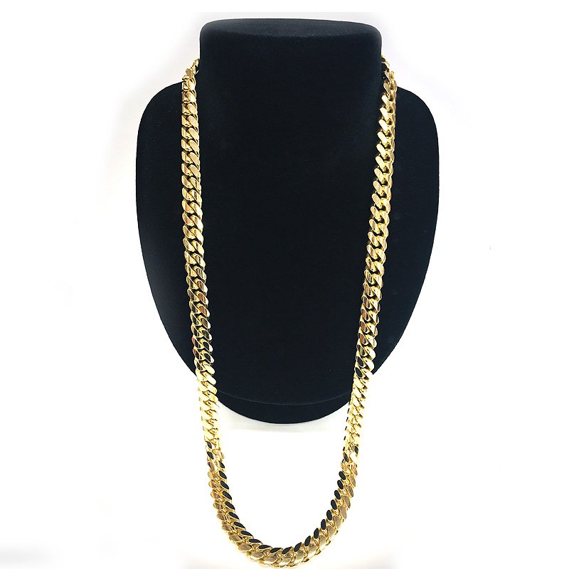 MIAMI CUBAN CHAIN 14K YG 10mm,66cm 【SOLID】