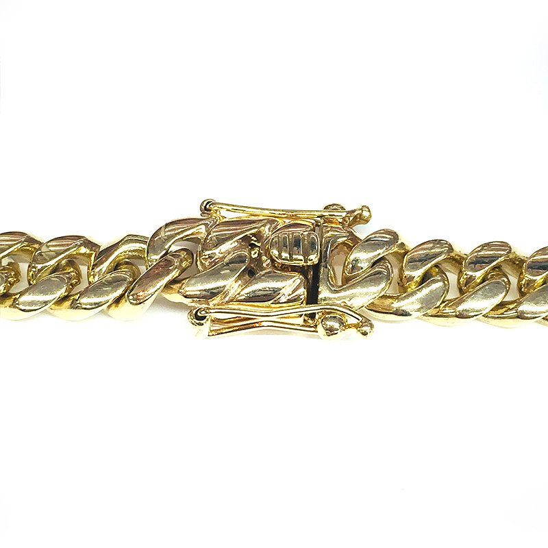 MIAMI CUBAN CHAIN 14K YG 10mm,61.5cm 【SOLID】