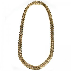 MIAMI CUBAN CHAIN 14K YG 13.5mm,67cm 【SOLID】