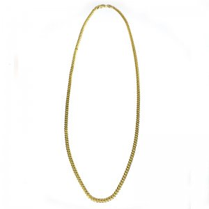 MIAMI CUBAN CHAIN 10K YG 3.5mm,51cm 【SOLID】