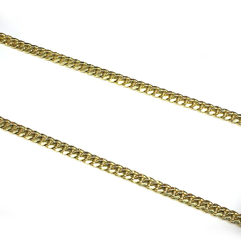 MIAMI CUBAN CHAIN 10K YG 4mm,61cm 【SOLID】