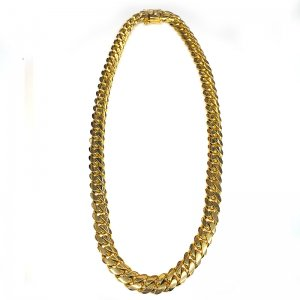MIAMI CUBAN CHAIN 10K YG 16mm,76cm 【SOLID】