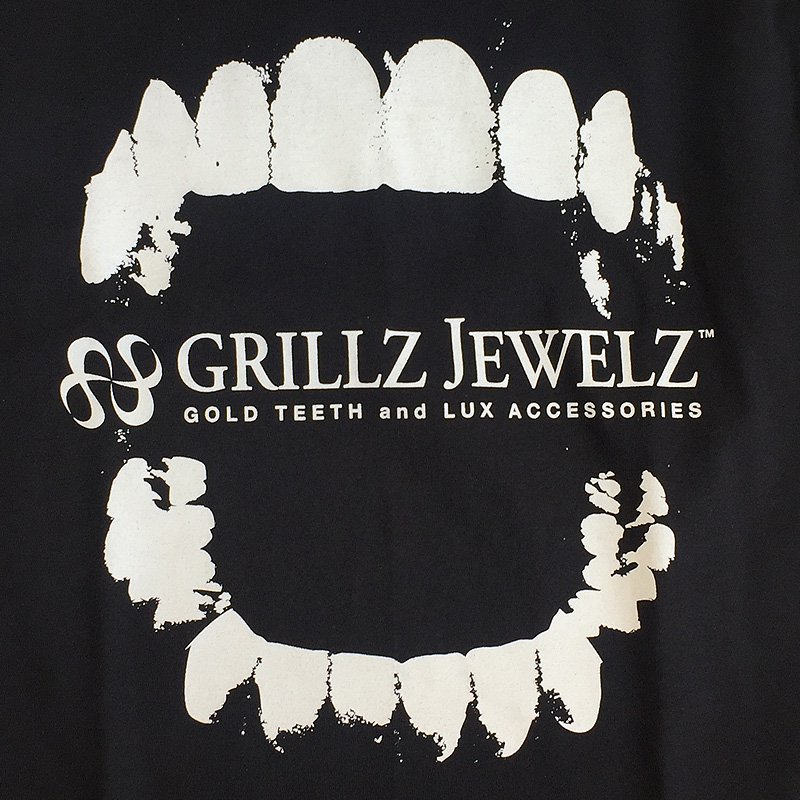 GRILLZ JEWELZ ORIGINAL LOGO TEE [BLACK]